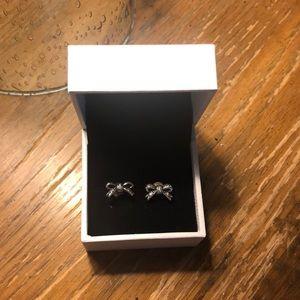 Pandora bow earrings